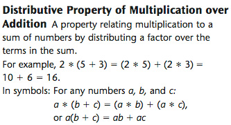 Over The Distributive Property Of Multiplication Multiplication ...